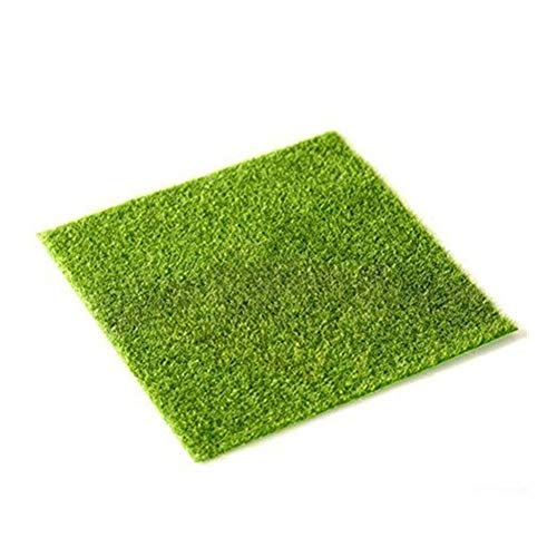 JSDOIN 4 Pcs Life-Like Fairy Artificial Grass 6''x 6'' Miniature Ornament Garden Dollhouse Garden DIY Grass ()