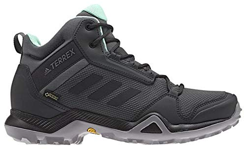 - adidas outdoor Women's Terrex AX3 Mid GTX Grey Five/Black/Clear Mint 8.5 B US