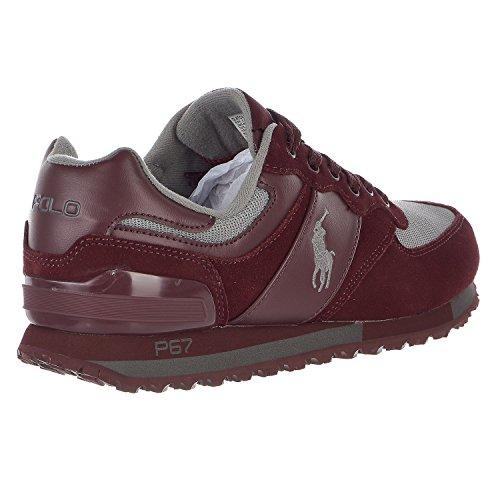 Polo Ralph Lauren Mens Slaton Pony Mode Sneaker Port / Grijs