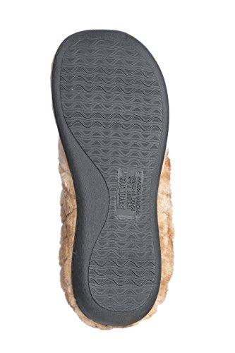 Pantofole Joan Vass Da Donna In Suede Scamosciato Con Polsino In Pelliccia Di Finta Pelliccia Sintetica Marrone Chiaro