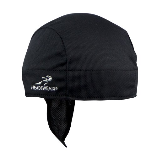 Headsweats Super Duty Shorty Beanie and Helmet Liner, Black, One Size (Headsweats Black Hat)