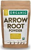 Organic Arrowroot Powder (Flour) | 16oz Resealable Kraft Bag (1lb) | 100% Raw From Vietnam | by Feel Good Organics