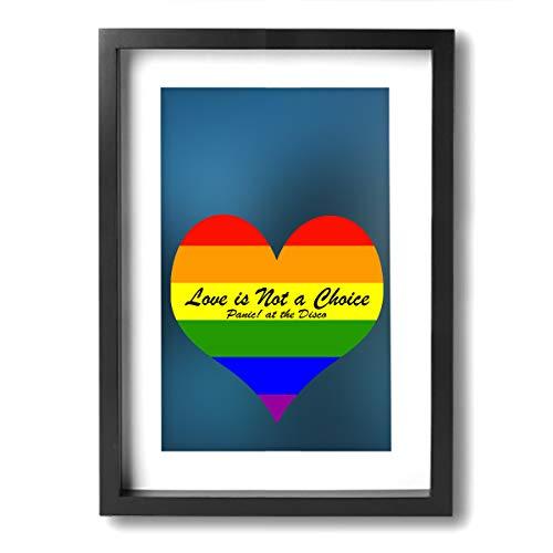 Rmoye Panic at The Disco Gay Flag Rainbow Love Wall Art for Home Decor Artworks Paintings Framed ()