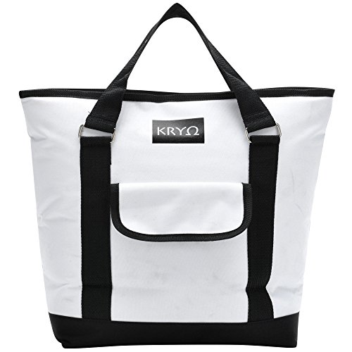 KRYO Insulated portable tote bag - Large picnic lunch cooler bags - Mens and Womens oversized travel totes with shoulder strap - Thermal Insulation coolers for cold food, beverages and wine (Park Sink Chest)
