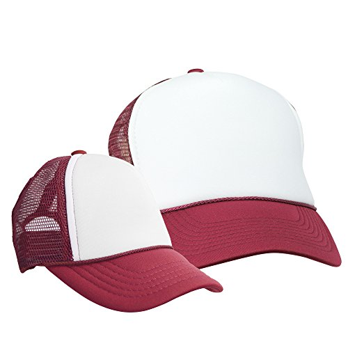 - DALIX Mommy and Me Hats Mom and Daughter Father Son Caps Baby Caps Maroon White