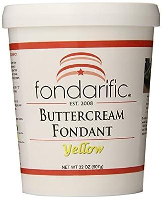 Fondarific Buttercream Yellow Fondant, 2-Pounds