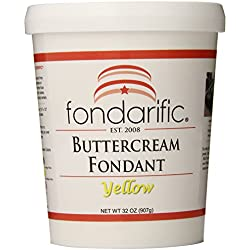 Fondarific Buttercream Yellow Fondant, 2-Pounds