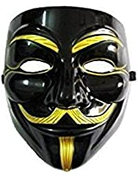 V for Vendetta Mask / Anonymous / Guy Fawkes Mask Black & Gold