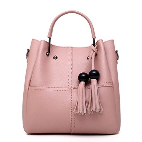 Borsa Pink Pelle PU in Donna Casual Anguang Pezzi Mano a Borse Set Crossbody Tracolla a Tote 2 f4EwS