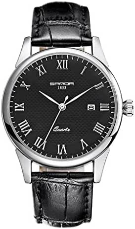 Juniors Boys High Quality Super Thin Quartz Analog Black Leather Strap Watch Lovers Watches Ages 15-20