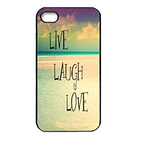 Changeshopping Beach Live Laugh Love Case Cover Hard Back Case for Iphone 4 4s 4g