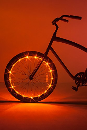Brightz WheelBrightz LED Bicycle Wheel Accessory Light (for 1 Wheel), Orange