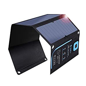 BigBlue 28W ソーラーチャージャー 電流計 ソーラー 充電器 2USBポート