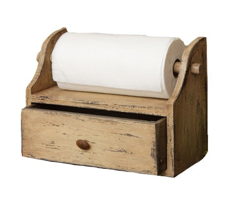 Your Heart's Delight Paper Towel Holder with Drawer, 15 by 11-1/2 by 7-Inch, Distressed ()