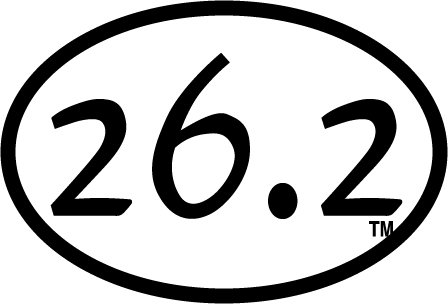 26.2 Oval Decal(white)