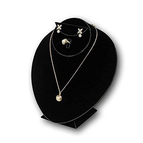 "6 Earring Display Stands Jewelry Showcase Black Fixture 2 3//8/"" x 2 1//2/"""