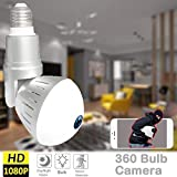 360 Panoramic Bulb WiFi Camera – WiFi IP Camera LED Bulb Camera Wireless Camera 360 Degree Panoramic 1080P HD Fisheye Remote Home Security System for Indoor Outdoor House Baby Pet (02 LED Bulb Camera) Review