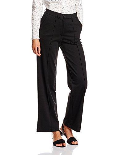 b.young Damen Weites Bein Hose Sarena pants, Gr. 40/L32 (Herstellergröße: L), Schwarz (Black 80001)