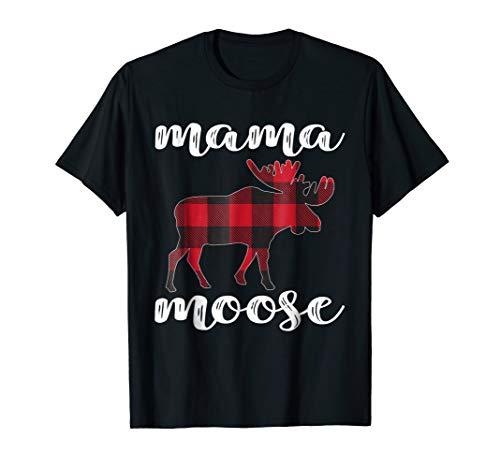 Mama Moose Matching Family Christmas TShirt Plaid Pajama Tee ()