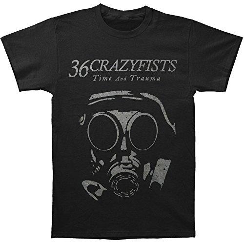 36 Crazy Fists Men's Gas Mask T-shirt Black