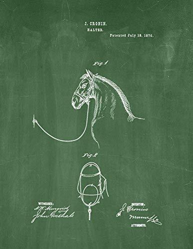 - Halters Patent Print Green Chalkboard (5