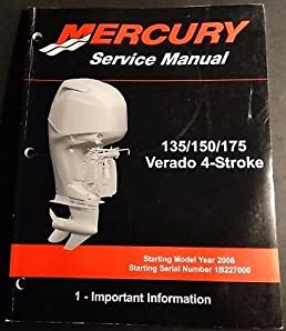 2006 mercury 135 150 175 verado 4 stroke 5 mid section service rh amazon com 2007 mercury verado 150 manual mercury verado 150 service manual pdf