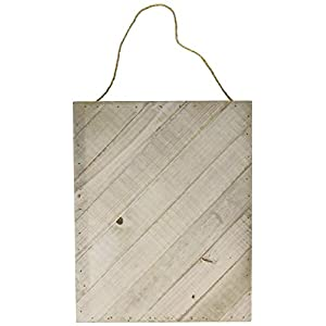 Hampton Art Weathered Jillibean Soup Mix The Media Diagonal Wooden Plank, 12″ x 15″