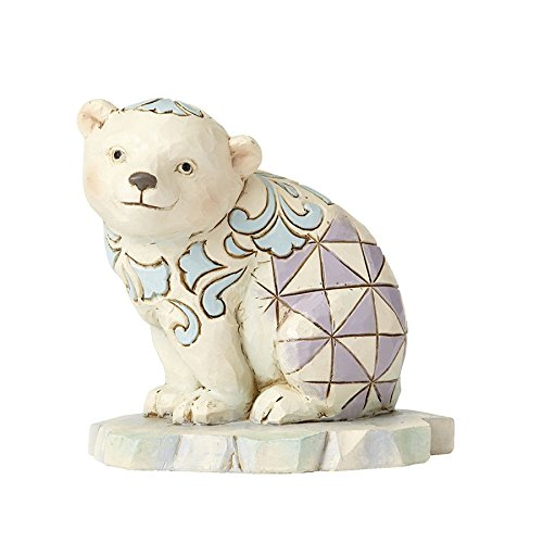 (Enesco Jim Shore HWC Mini Polar Bear On Ice Figurine)