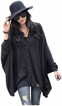4ad8db20 ARJOSA® Women's Black Fashion Casual Oversized Large Blouse T Shirt Loose  Tops