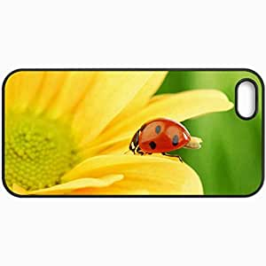 Customized Cellphone Case Back Cover For iPhone 5 5S, Protective Hardshell Case Personalized Ladybug Black
