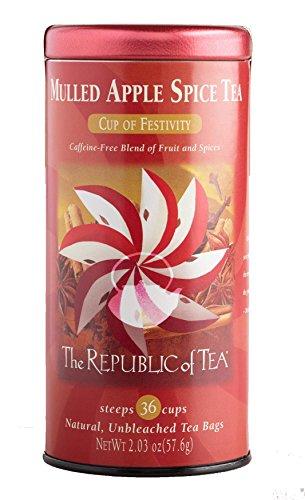 The Republic of Tea Mulled Apple Spice Tea Caffeine-Free, 30 Tea Bags