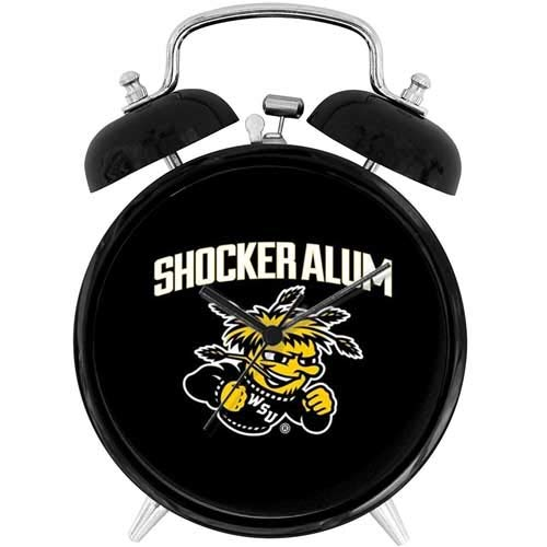 22yiihannz Desk Clock 4in Wichita State Shocker Alum - Unique Decorative .Battery Operated Quartz Ring Alarm Clock for Home,Office,Bedroom.