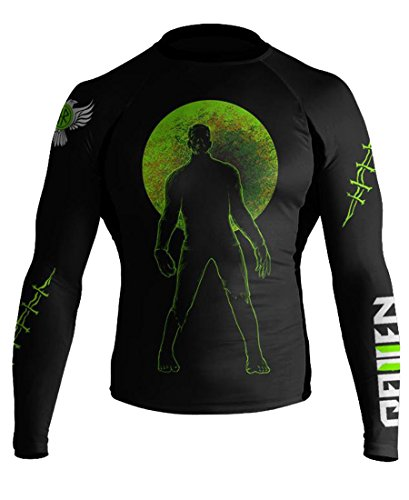 Raven Fightwear Men's BJJ Horror Frankenstein's Monster MMA Rash Guard Large