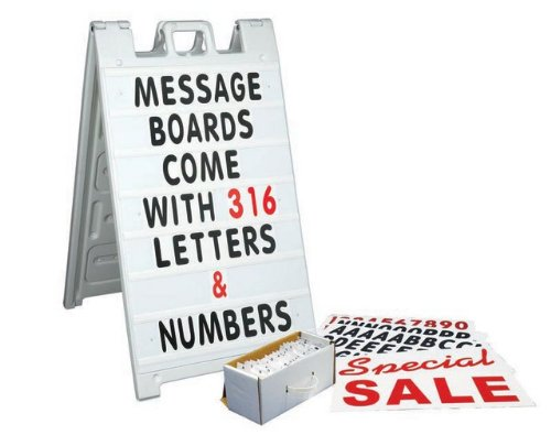Message Board Kit, White for Simpo Sign II (sandwich board sold separately)