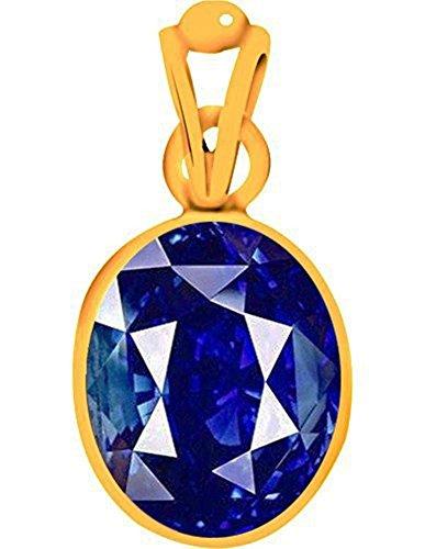 Divya Shakti 7.25 - 7.50 Carats Blue Sapphire Pendant / Locket ( Nilam / Neelam Stone Panchadhatu Pendant ) 100% Original AAA Quality Gemstone Carats Ruby Sapphire Beads