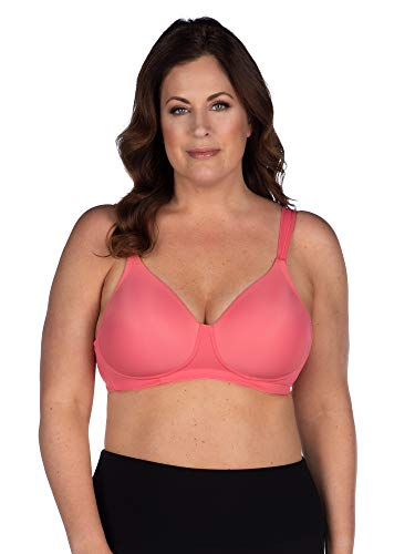 (Leading Lady Women's Plus-Size Underwire Padded T-Shirt Bra, Sun Kissed Coral, 38C )