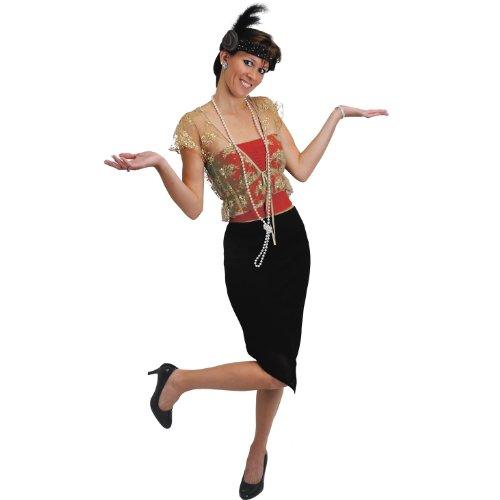 Flapper Headband & Beads Set (black) Party Accessory  (1 count) (1/Pkg)