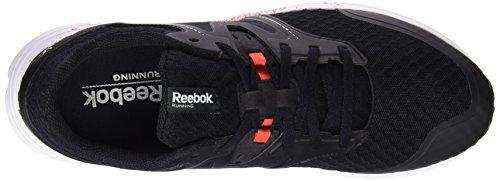 Reebok Exhilarun Zapatillas de running, Hombre, Negro/Rojo/Blanco/Plateado