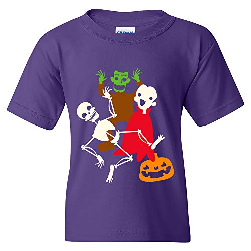 Monster Mash - Halloween Dance Party Skeleton Vampire Youth T Shirt - Large - Purple]()