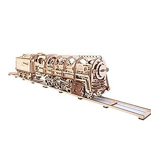 Ugears 70012 Locomotive Con Tender Kit Di Costruzione In Legno 3d Senza Colla