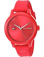 Tommy Hilfiger Womens EVERYDAY SPORT Quartz Resin and Silicone Casual Watch, Color:Red (Model: 1781776)