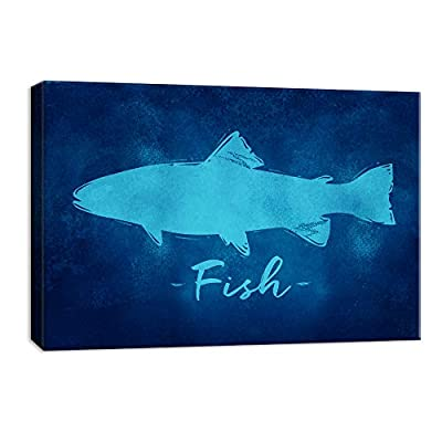 Abstract Fish Painting Artwork for Framed
