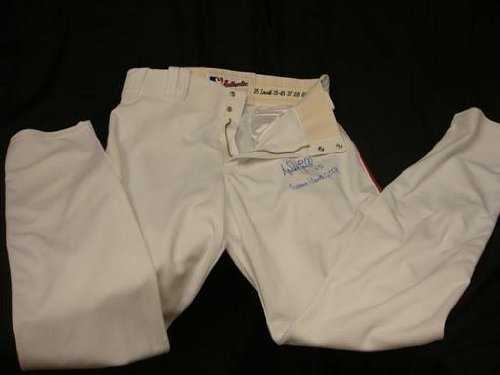 Mike Lowell Signed Game Used 2008 Red Sox Home Pants - Other Game Used MLB Autographed Items