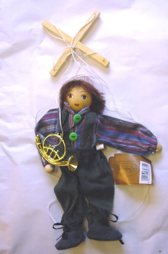 BOY PUPPET MARIONETTE WITH MUSICAL INSTRUMENT 9