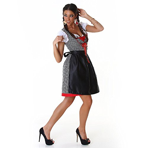 Super sexy 3tlg. Dirndl Set - Komplettes Oktoberfest Outfit: Dirndl, Bluse & Schürze