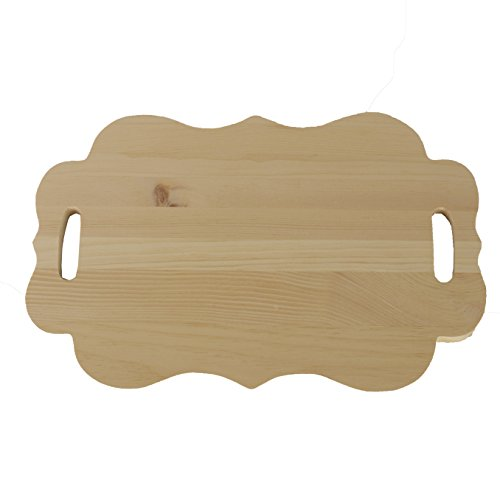 Walnut Hollow Scallop Edge Wood Serving Board for Crafts and Home Decor