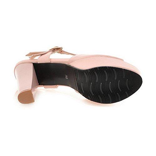 Balamasa Jenter Doble Breasted Peep-toe Mykt Materiale Sandaler Rosa