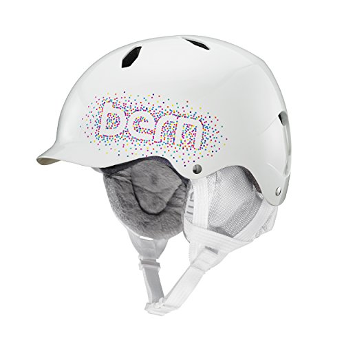 Bern Bandita EPS Thin Shell Helmet - Girls' (Gloss White Confetti with White Liner, Small/Medium)