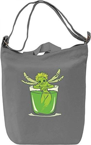 Green fairy Borsa Giornaliera Canvas Canvas Day Bag| 100% Premium Cotton Canvas| DTG Printing|
