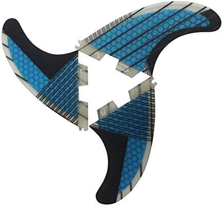 3pcsのサーフフィン、ブルーグラスファイバーハニカムカーボンファイバーフィンSUPボード良質フィンフィンは適していために、すべてのSUPボードタイプです